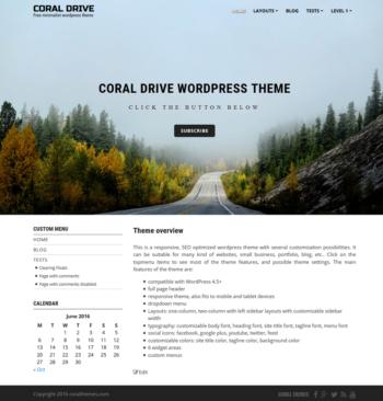 Coral-drive responsive free wordpress theme