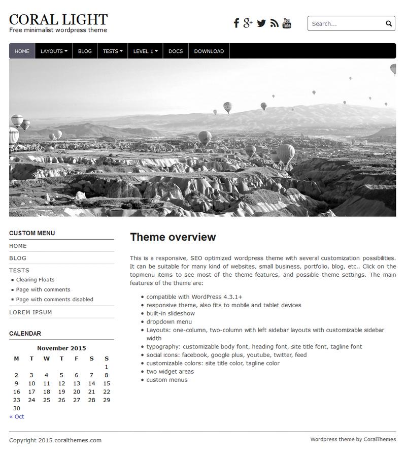 New responsive free wordpress theme: Coral Light | CORALTHEMES