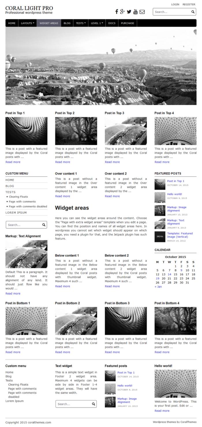 Coral light pro wordpress theme