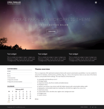 coral-parallax free wordpress theme